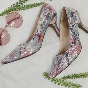 Karen Scott Square Toe Rainbow Heels Size 6M